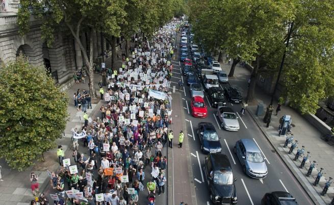 Шествие се проведе и във Великобритания