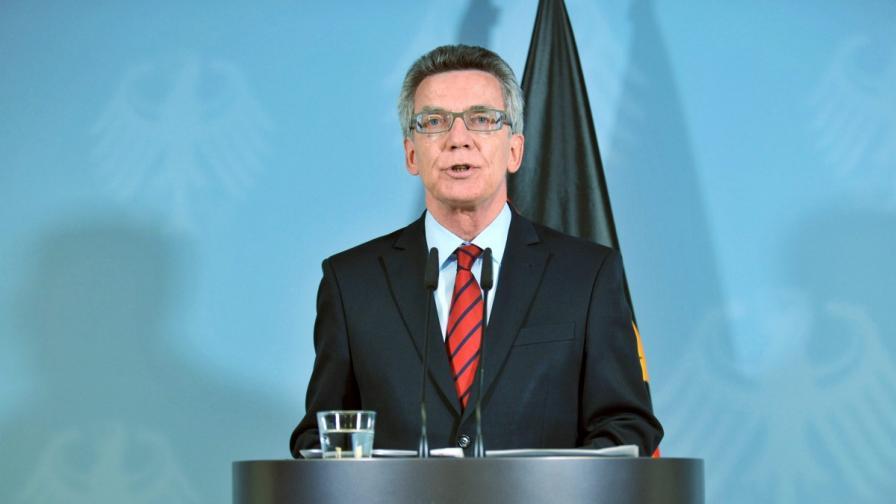 Вътрешният министър на Германия Томас де Мезиер