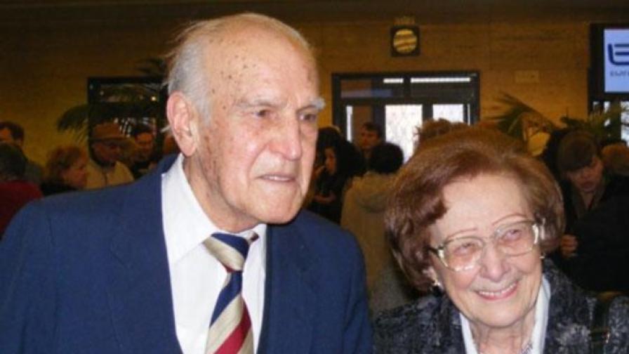 Боян Трайков и Леда Милева по време на една от срещите на радиопоколенията в БНР