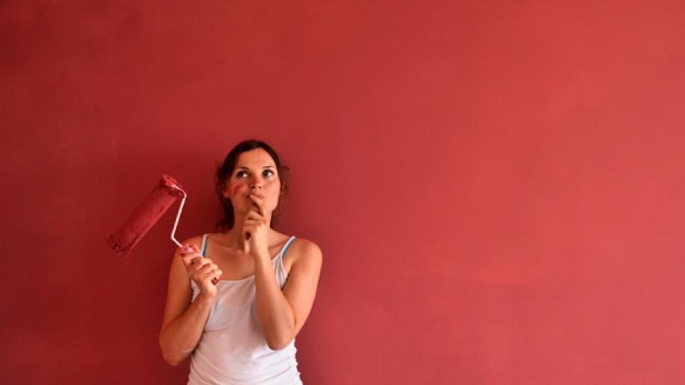 Лесно и бързо освежаване на дома: Наполовина боядисана врата