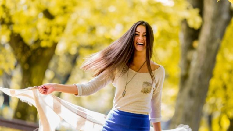 жена есен щастие
