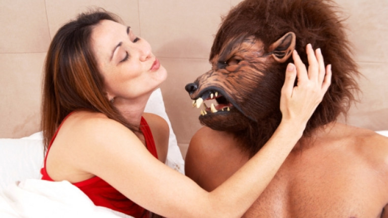 жена легло под завивките звят животно
