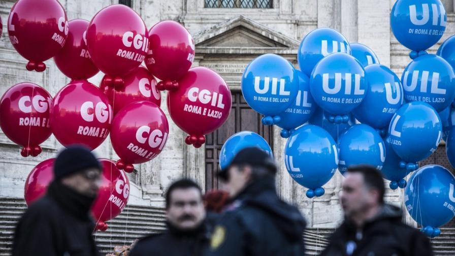 Италия е парализирана от обща стачка и протести
