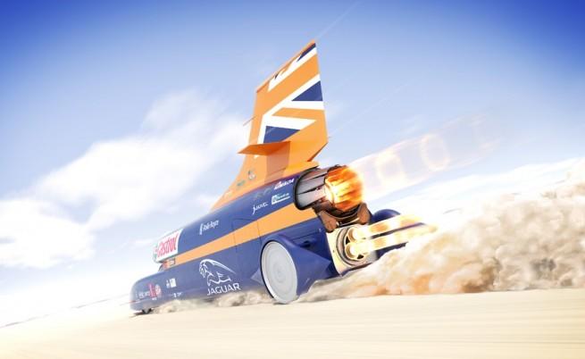 В преследване на рекорда: Над 1600 км/ч с кола (видео)