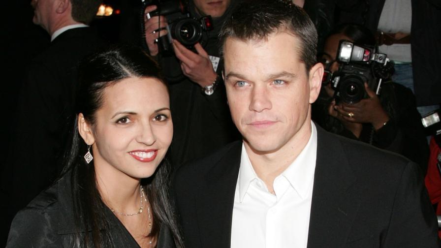 Мат Деймън и съпругата му Лусиана