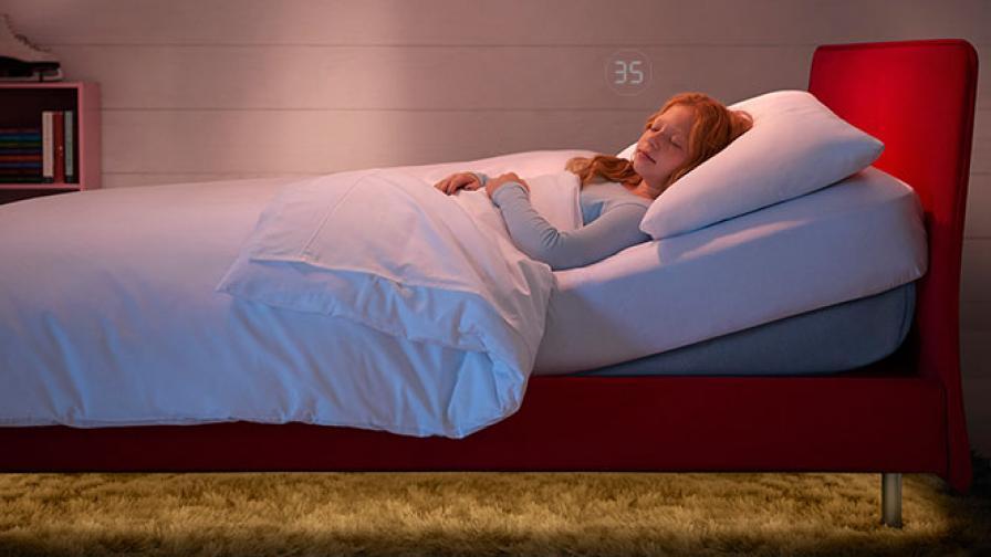 Легло казва на родителите кога детето им не спи