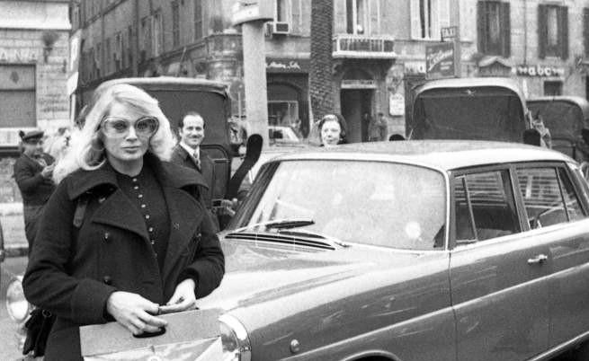 Снимка на Анита Екберг от 1971 г. в Рим