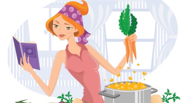 жена кухня готвене
