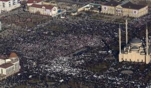 Милион демонстранти в Грозни срещу карикатури на пророка