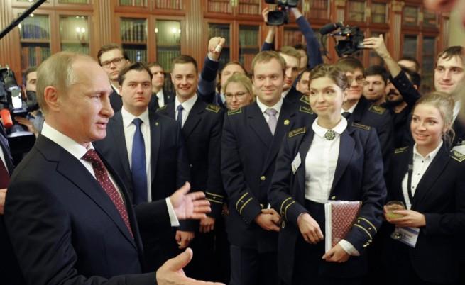 Среща на Путин със студенти в Санкт Петербург