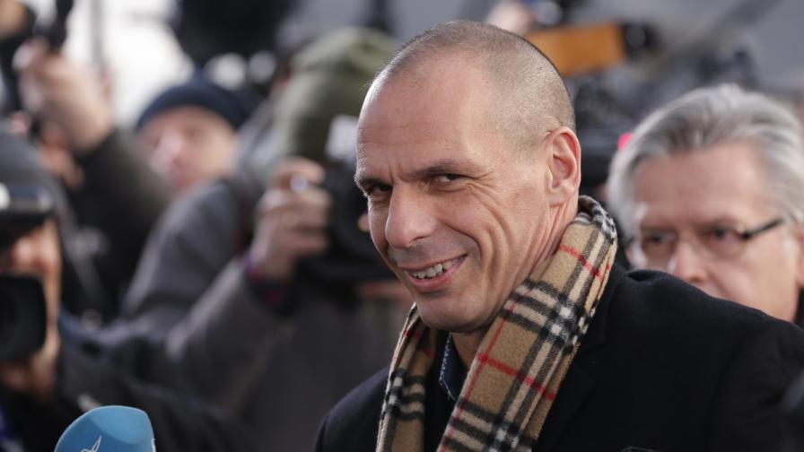 Гръцкият финансов министър Янис Варуфакис