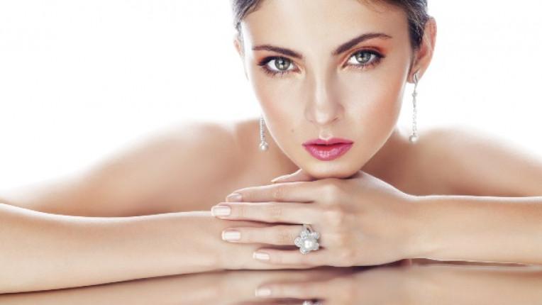 жена лице пръстен бижута лукс красота