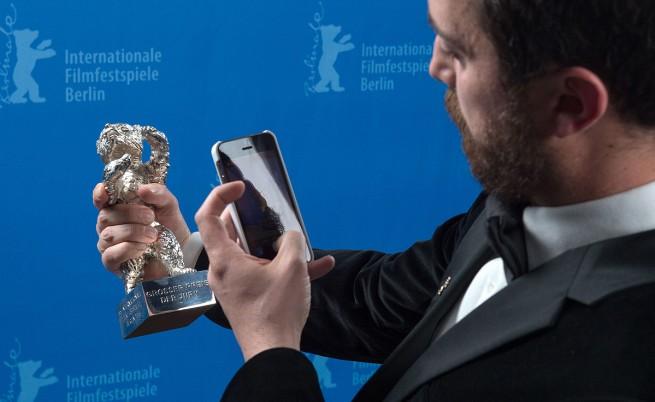 Пабло Лараин снима наградата си