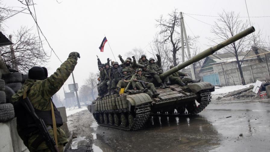 Проруски сепаратисти в Донецк