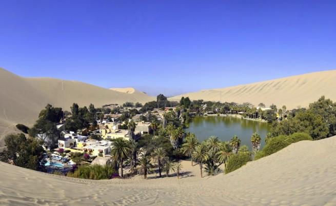 Не, това не е мираж, а истински оазис в пустинята Атакама