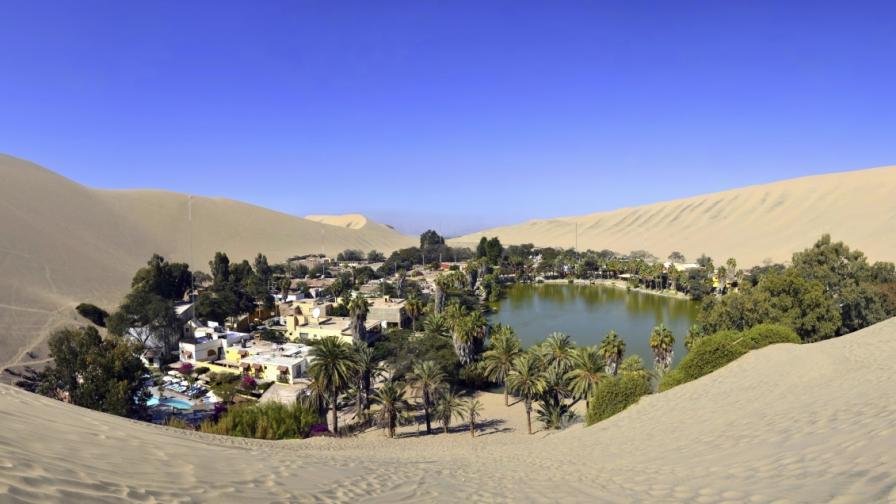 Не, това не е мираж, а истински оазис в пустиня