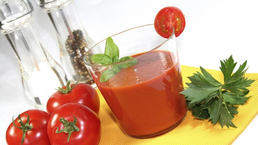 Доматеният сок помага за отслабване