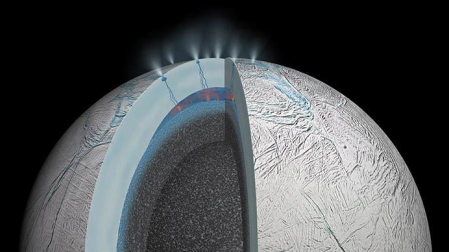 Луната Енцелад може да е дом на извънземен живот