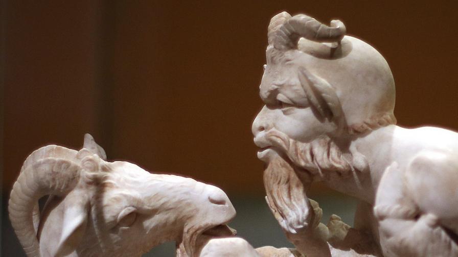 В Израел откриха бронзова маска на древногръцкия бог Пан