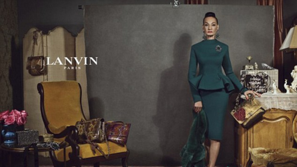 """Рекламният плакат на """"Ланвин"""" с Джаки Мърдок"""