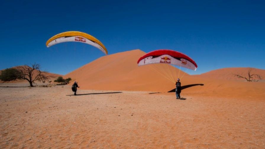 Весо Овчаров и Петър Лончар в Намибия