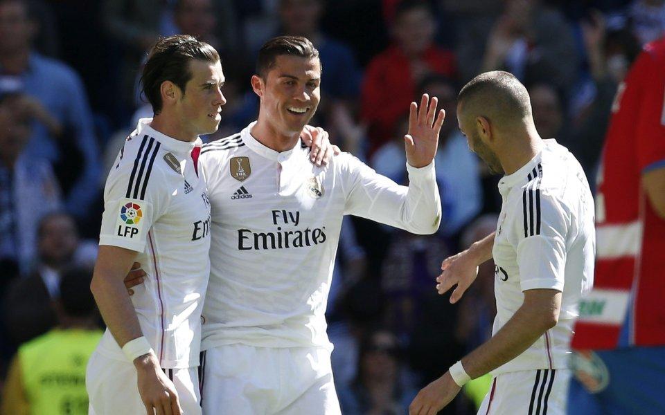 Звучно: Реал унижи Гранада с 9 гола, Роналдо вкара 5