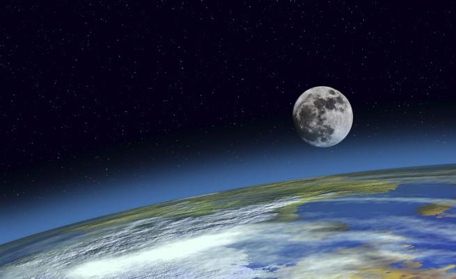 Луната е образувана от сблъсък на младата Земя със сходна планета