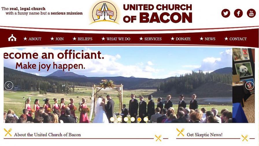 Църквата на бекона предлага венчавки и дори погребения