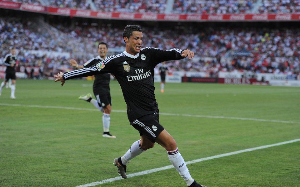 Хеттрик на Роналдо измъкна Реал Мадрид сух от Севиля