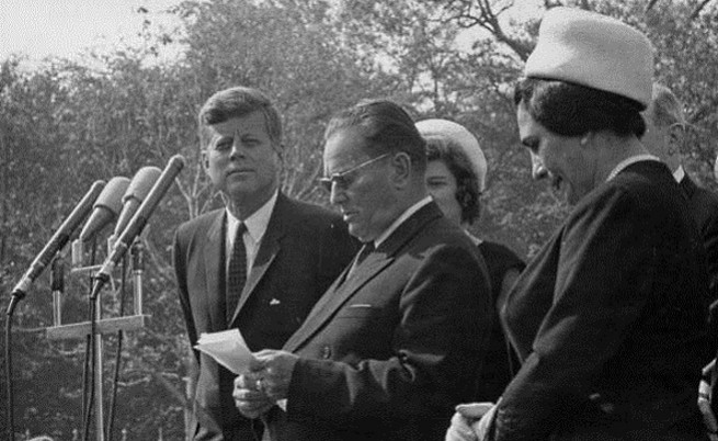 Йосип Броз Тито във Вашингтон с Джон Ф. Кенеди през 1963 г.