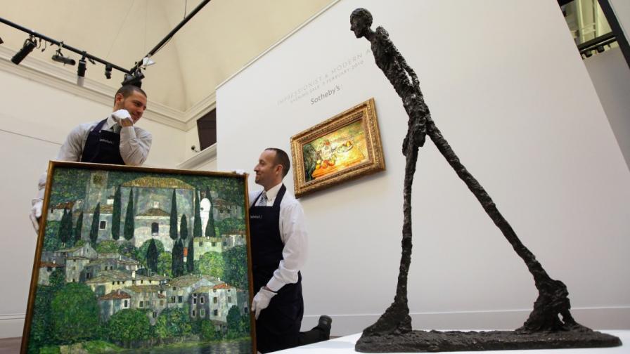 """""""Крачещият човек"""" на Джакомети е най-скъпата скулптура в света"""