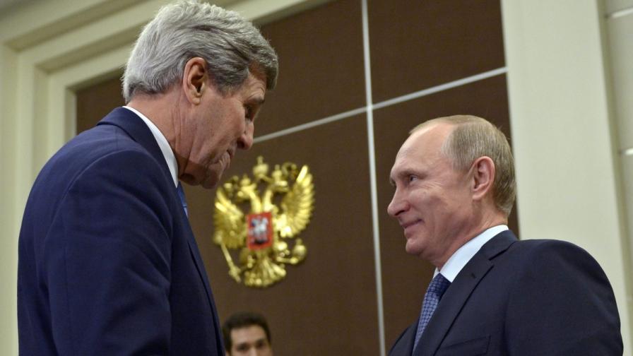 Джон Кери и Владимир Путин