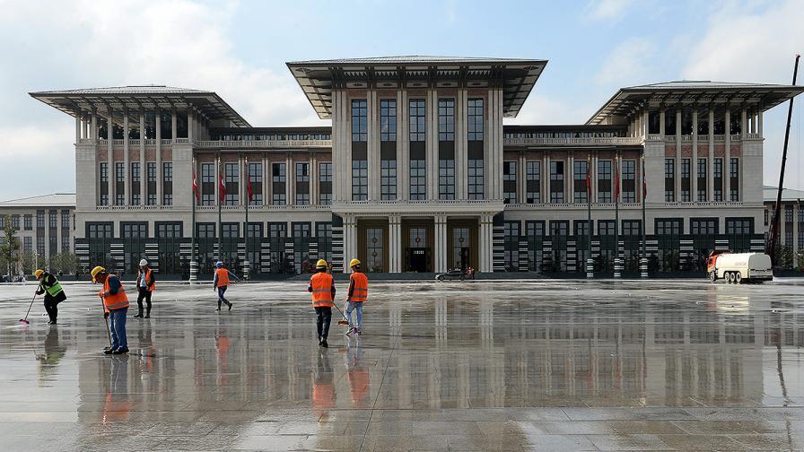 Дворецът на Ердоган край Анкара