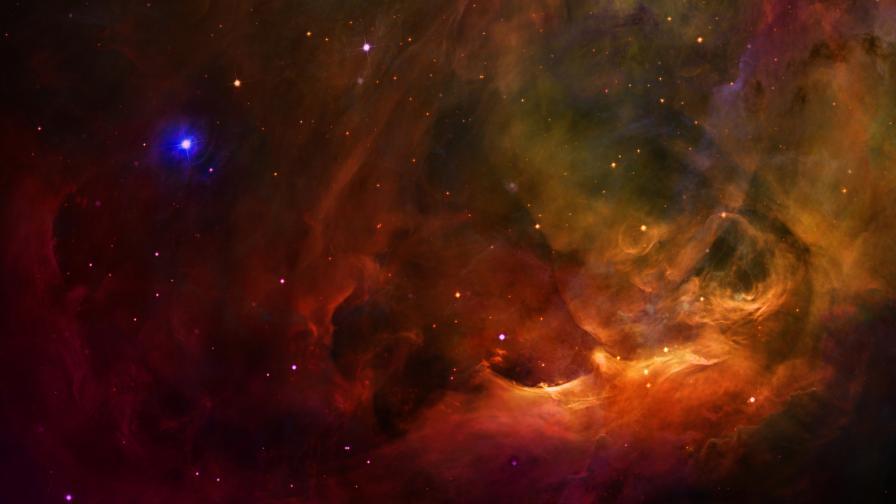 Космическа красота: Уникални снимки на мъглявина (видео)