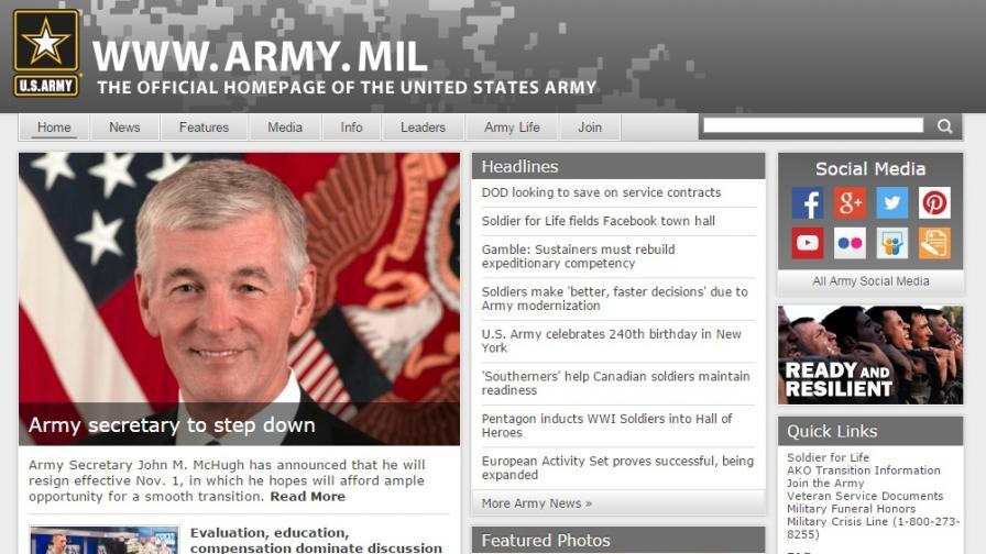 Американски военен сайт затвори временно след хакерска атака