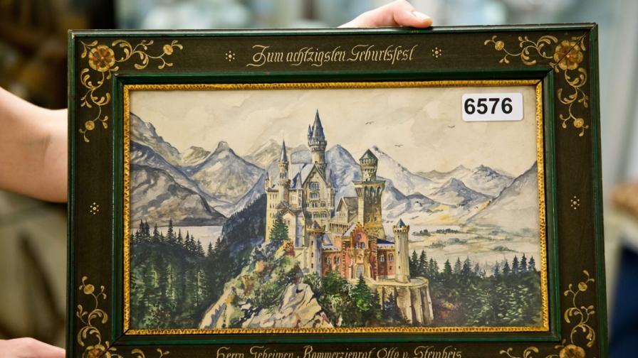 Замъкът Нойшванщайн, рисуван от Хитлер