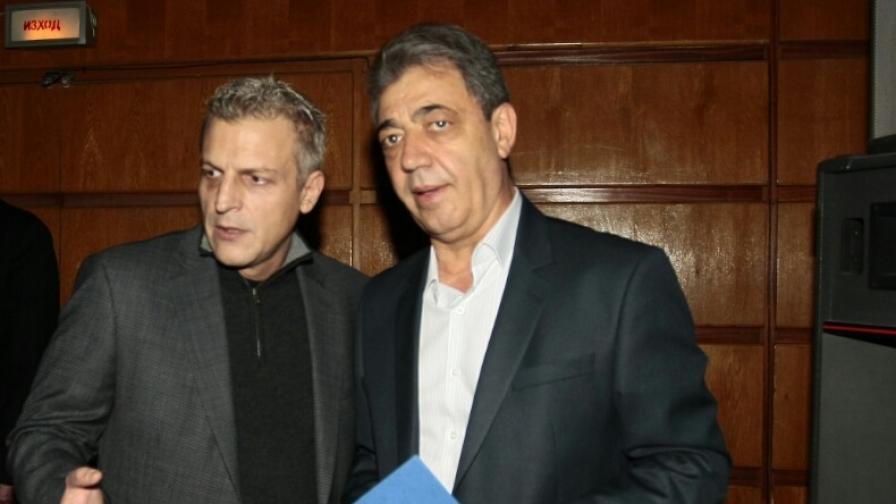 Вили Лилков и министърът на здравеопазването Петър Москов
