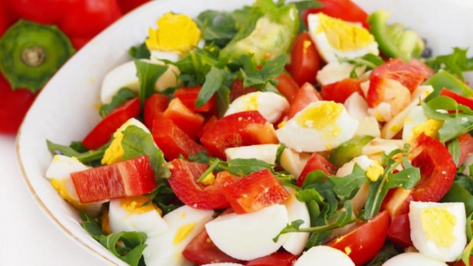 По-полезната салата - с яйца