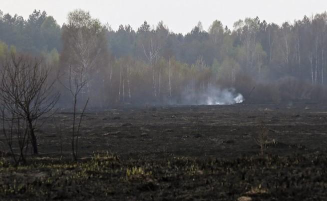 Угасиха пожара в торфените полета около Чернобил