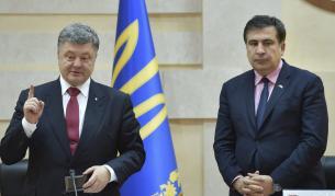 Украинският президент Петро Порошенко и Михаил Саакашвили