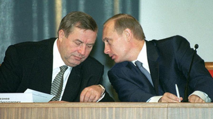 Генадий Селезньов с Владимир Путин през 2001 г.