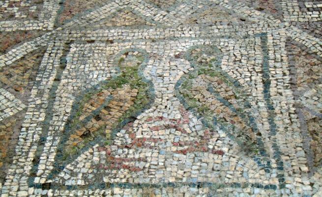 Мозайка в Голямата базилика в Пловдив