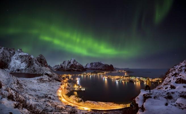 Красотата на северното сияние (видео)