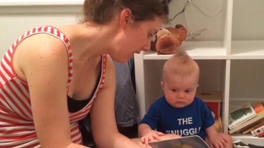 Това ли е най-тъжният малък любител на книгите? (видео)