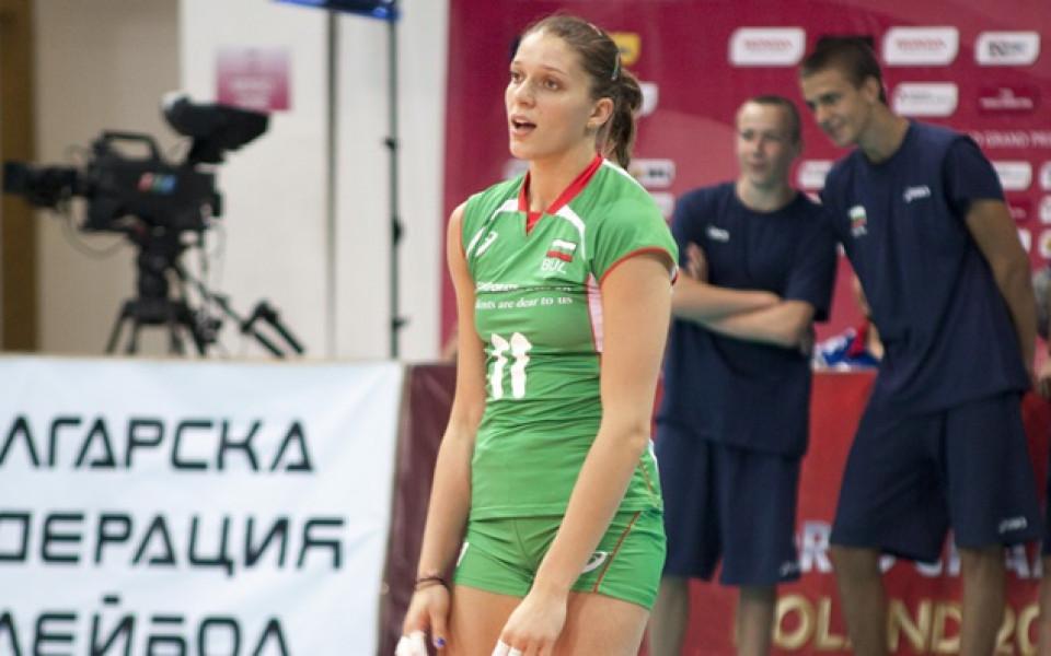 Христина Русева е номер 1 на блок  на Евро 2017 по волейбол