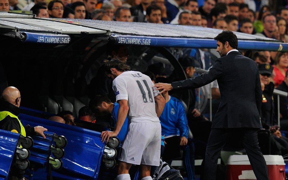 Състоянието на Бейл притеснява Реал, може да е аут за повече от месец