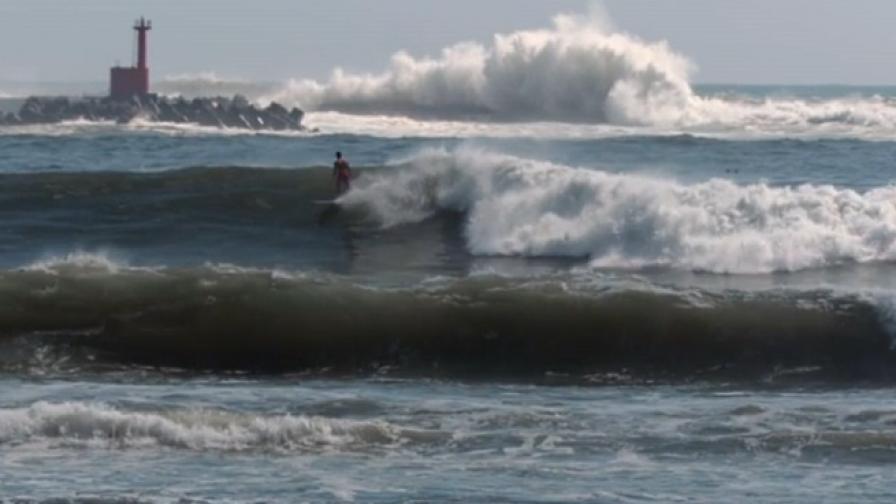 В сезона на големите вълни (видео)