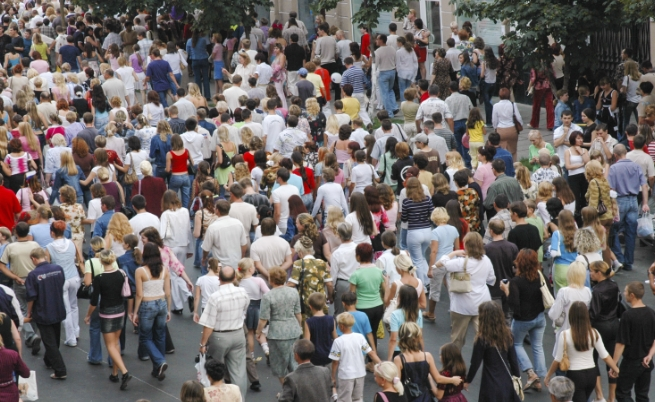 Големите тълпи от хора...