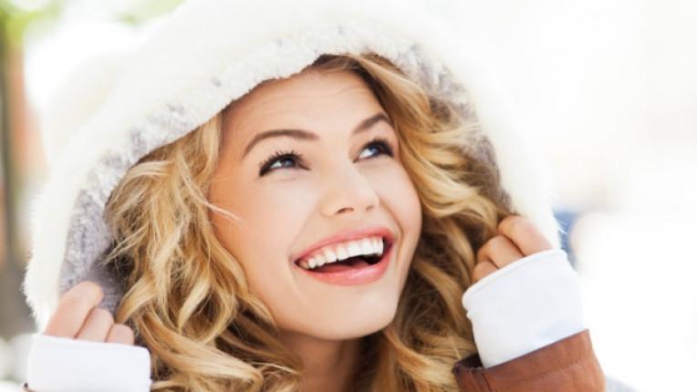 жена зима щастие