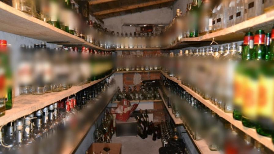 И отчета от Поморие в търговията с нелегален алкохол